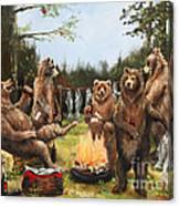 The Bear Party Canvas Print