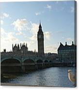 The Big Ben And Dove Canvas Print