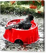 The Birdbath  Canvas Print