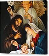 The Birth Of Christ    Feliz Navidad Canvas Print