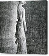 The Black Bow Canvas Print