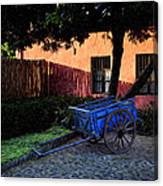 The Blue Cart Canvas Print