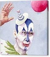 The Blue Clown Canvas Print