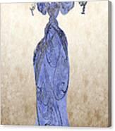 The Blue Dress Canvas Print