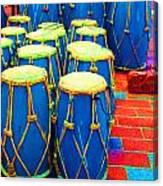 The Blue Drums Canvas Print