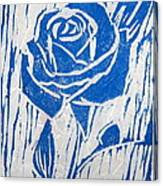 The Blue Rose Canvas Print