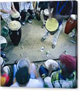 The Blur Of A Frenzied Beat In A Circle Canvas Print