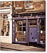 The Bow Bar. Edinburgh. Scotland Canvas Print