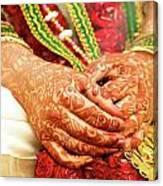The Bride's Hands Canvas Print
