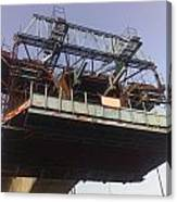 The Bridge Building Platform Being Used In The Construction Of The Delhi Metro Canvas Print