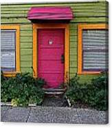 The Brightly Colored Door Illustrated Canvas Print