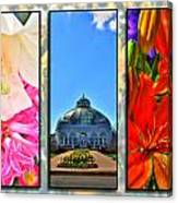 The Buffalo And Erie County Botanical Gardens Triptych Series Canvas Print