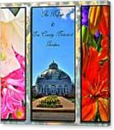 The Buffalo And Erie County Botanical Gardens Triptych Series With Text Canvas Print