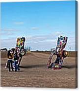 The Cadillac Ranch Amarillo Texas Canvas Print