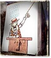 The Cartoon Carney Canvas Print