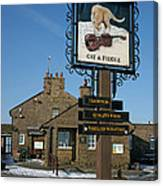 The Cat And Fiddle Pub Canvas Print