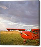 The Cessna Makes A Pit Stop To Refuel Canvas Print
