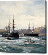 The Channel Fleet Off Scarborough Canvas Print