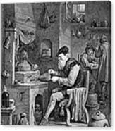 The Chemist, 17th Century Canvas Print