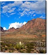 The Chisos Mountains Big Bend Texas Canvas Print