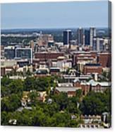 The City Of Birmingham Alabama Usa Vertical Canvas Print