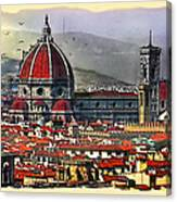 The City Of Florence Canvas Print