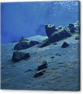 The Clear Water Of The Lagoon At Silfra Canvas Print