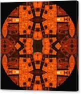 The Color Orange Mandala Abstract Canvas Print