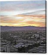 The Colors Of The Sky Over San Jose At Sunset Canvas Print