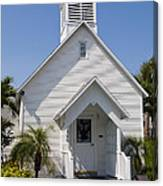 The Community Chapel Of Melbourne Beach Florida Canvas Print