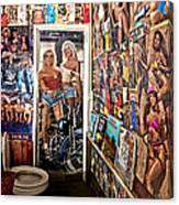 The Coolest Men's Room West Of The Pecos Canvas Print