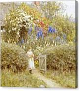 The Cottage Gate Canvas Print