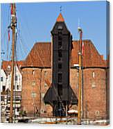The Crane In Gdansk Canvas Print
