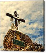 The Cross In The Grotto In Iowa Canvas Print