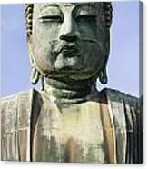 The Daibutsu Or Great Buddha, Close Up Canvas Print