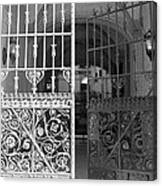 The Dakota Gates In Black And White Canvas Print