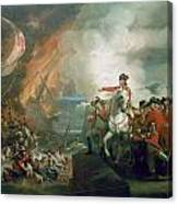 The Defear Of The Floating Batteries At Gibraltar Canvas Print