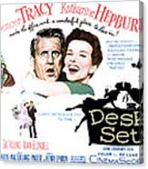 The Desk Set, Spencer Tracy, Katharine Canvas Print