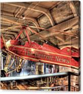 The Detroit News Airplane Dearborn Mi Canvas Print