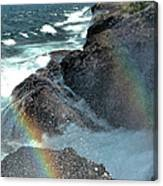 The Devils Washtub With Double Rainbow Canvas Print