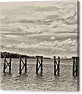 The Disappearing Pier Canvas Print
