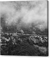 The Distant Train Canvas Print