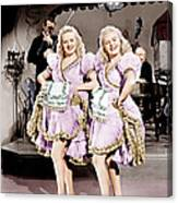 The Dolly Sisters, From Left Betty Canvas Print