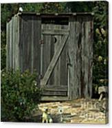 The Double Seat Outhouse Canvas Print