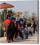 The Elephant Parade Canvas Print