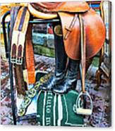 The English Saddle Canvas Print