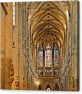 The Enormous Interior Of St. Vitus Cathedral Prague Canvas Print