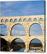 The Famous Pont Du Gare In France Canvas Print