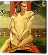 The Farmyard Embrace Canvas Print