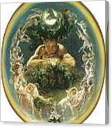 The Faun And The Fairies Canvas Print